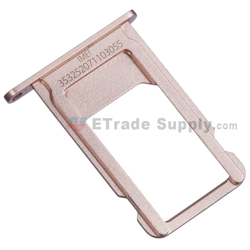 new arrivals 870d4 9e85d For Apple iPhone 6S SIM Card Tray Replacement - Rose Gold - Grade S+