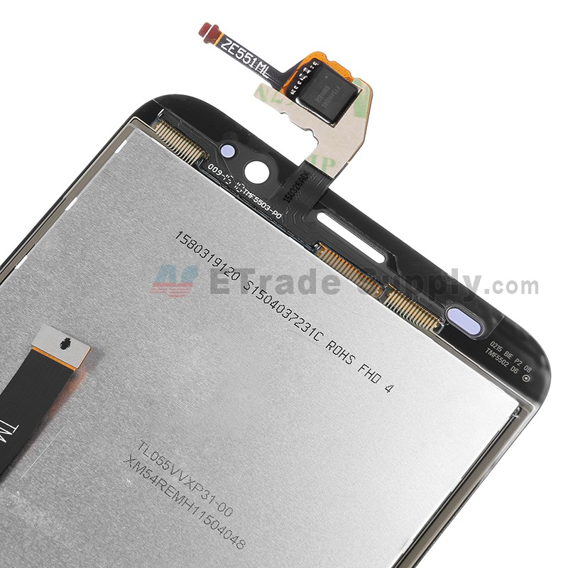 f46b7eca005 ... For Asus Zenfone 2 ZE551ML LCD Screen and Digitizer Assembly  Replacement - Black - Grade S+ ...