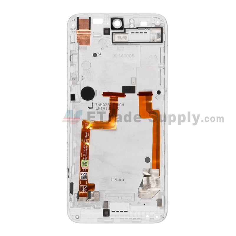 For HTC Desire Eye LCD Screen and Digitizer Assembly with Front Housing  Replacement (without Top and Bottom Cover) - White - With Logo - Grade A