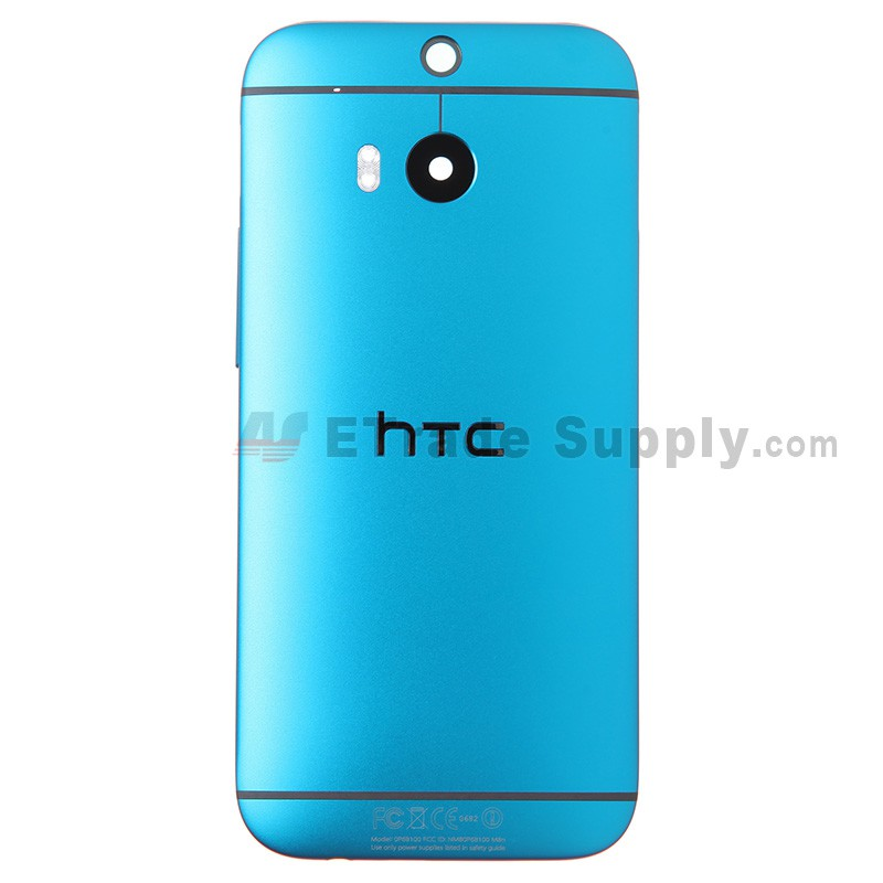 HTC One M8 Rear Housing (Blue) - HTC Logo - With Words - ETrade Supply