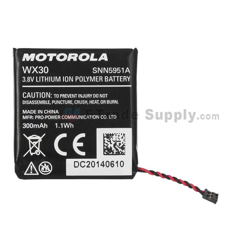 For Motorola Moto 360 Smart Watch Battery Replacement (300 mAh, WX30) -  Grade S+