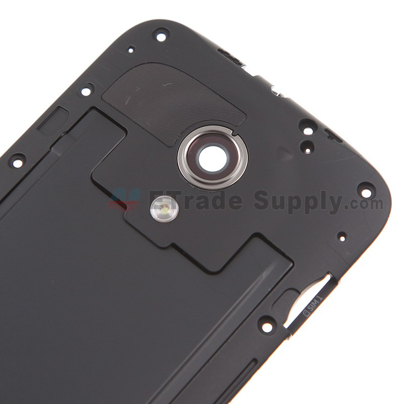 For Motorola Moto G XT1032 Rear Housing Replacement (Single SIM Card Slot)  - Black - Grade S+