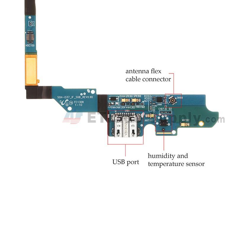 Samsung Galaxy S4 Sgh I337 Charging Port Flex Cable Ribbon Etrade