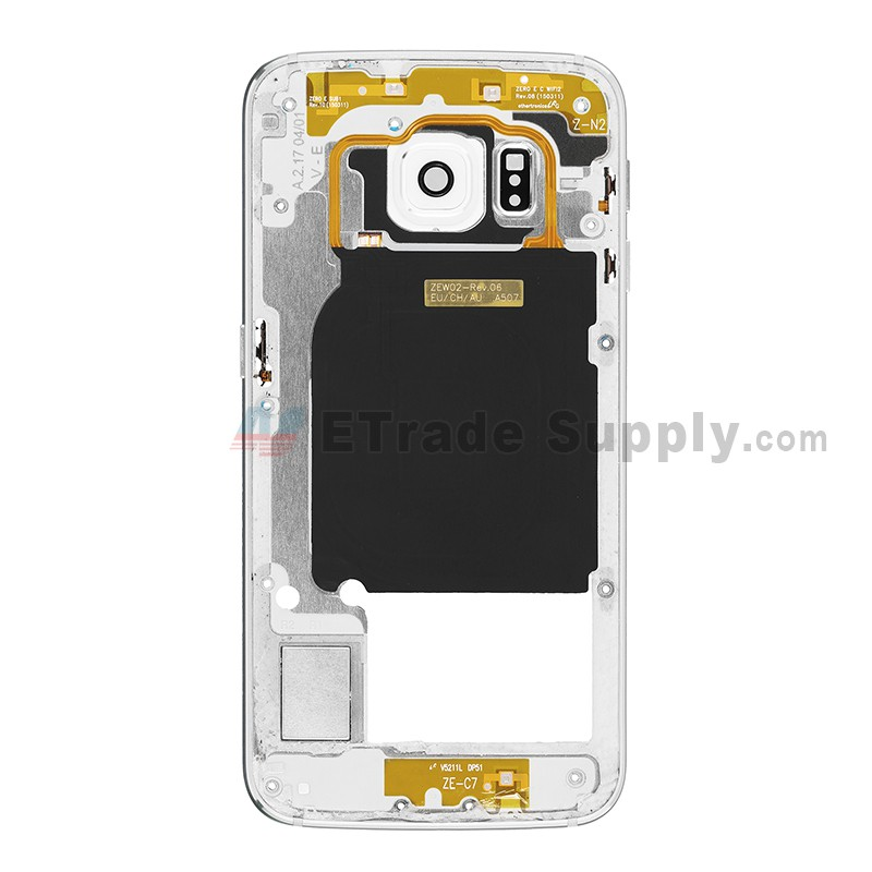 official photos f8627 a3204 For Samsung Galaxy S6 Edge SM-G925A Rear Housing Replacement Replacement -  White - Grade S+