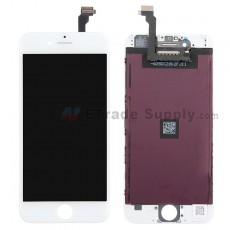 For Apple iPhone 6 LCD Screen and Digitizer Assembly with Frame Replacement (AUO) - White - Grade R