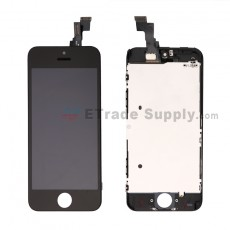 For Apple iPhone 5C LCD Screen and Digitizer Assembly with Frame Replacement - Black - Grade R (0)