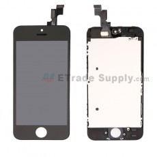 For Apple iPhone 5S LCD Screen and Digitizer Assembly with Frame Replacement - Black - Grade R (0)