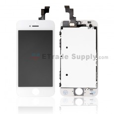For Apple iPhone 5S LCD Screen and Digitizer Assembly with Frame Replacement - White - Grade R (0)