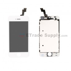 For Apple iPhone 5S LCD Screen and Digitizer Assembly with Frame Replacement - White - Grade S+ (0)