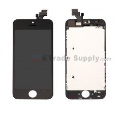 For Apple iPhone 5 LCD Screen and Digitizer Assembly with Frame Replacement - Black - Grade R (7)