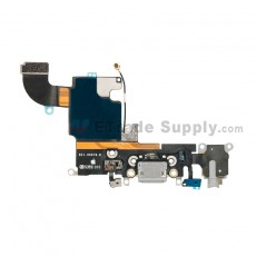 For Apple iPhone 6S Charging Port Flex Cable Ribbon Replacement - Dark Gray - Grade S+ (8)