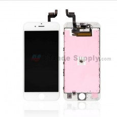 For Apple iPhone 6S LCD Screen and Digitizer Assembly with Frame Replacement - White - Grade S (0)