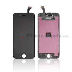 For Apple iPhone 6 LCD Screen and Digitizer Assembly with Frame Replacement - Black - Grade S+ (0)