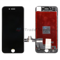 For Apple iPhone 7 LCD Screen and Digitizer Assembly with Frame Replacement - Black - Grade S+ (0)