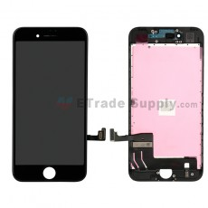 For Apple iPhone 7 LCD Screen and Digitizer Assembly with Frame Replacement - Black - Grade S+ (16)