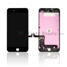 For Apple iPhone 7 Plus LCD Screen and Digitizer Assembly with Frame Replacement - Black - Grade S (0)