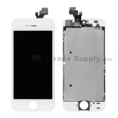 For Apple iPhone 5 LCD Screen and Digitizer Assembly with Frame Replacement - White - Grade R