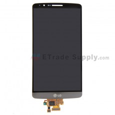For LG G3 D850 LCD Screen and Digitizer Assembly Replacement - Gray - With Logo - Grade S+