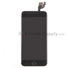 For Apple iPhone 6 LCD Screen and Digitizer Assembly with Frame and Home Button Replacement - Black - Grade S+