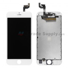 For Apple iPhone 6S LCD Screen and Digitizer Assembly with Frame Replacement - White - Grade R