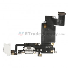 For Apple iPhone 6S Plus Charging Port Flex Cable Ribbon Replacement - White - Grade S+