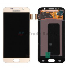 For Samsung Galaxy S6 Samsung-G920/G920A/G920P/G920R4/G920T/G920F/G920V LCD Screen and Digitizer Assembly Replacement - Gold - Grade S+