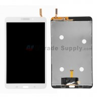 For Samsung Galaxy Tab 4 8.0 Samsung-T330 LCD Screen and Digitizer Assembly Replacement - White - With Logo - Grade S+
