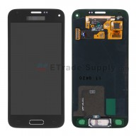For Samsung Galaxy S5 Mini SM-G800F/G800H LCD Screen and Digitizer Assembly with Home Button Replacement - Black - With Logo - Grade S+
