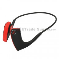 For Wireless Bone Conduction Headphones Bluetooth 4.1 Headset Sports Earphone - Red