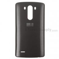 For LG G3 LS990 Battery Door Replacement - Black - With Logo - Grade S+