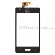For LG Optimus L5 E610 Digitizer Touch Screen Replacement - Black - With Logo - Grade S+