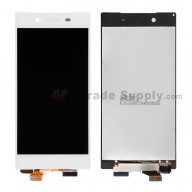 For Sony Xperia Z5 LCD Screen and Digitizer Assembly  Replacement - White - With Logo - Grade S+