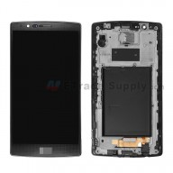 For LG G4 H815/H810/F500/H812/H811/LS991 LCD and Digitizer Assembly with Front Housing Replacement (No Small Parts) - Black - With Logo - Grade S+