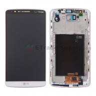 For LG G3 VS985 LCD Screen and Digitizer Assembly with Front Housing  Replacement (No Small Parts) - White - with Logo - Grade S+