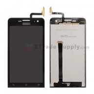 For Asus Zenfone 5 A500CG LCD Screen and Digitizer Assembly Replacement - Black - With Logo - Grade S+