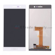 For Huawei Ascend P7 LCD Screen and Digitizer Assembly Replacement - White - With Logo - Grade S+