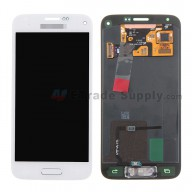 For Samsung Galaxy S5 Mini Samsung-G800F/G800H LCD Screen and Digitizer Assembly with Home Button Replacement - White - With Logo - Grade S+