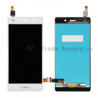For Huawei P8lite LCD Screen and Digitizer Assembly Replacement - White - With Logo - Grade S+