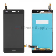 For Huawei P8lite LCD Screen and Digitizer Assembly Replacement - Black - With Logo - Grade S+