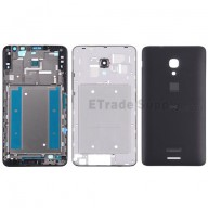 For Huawei Ascend Mate2 4G Housing Replacement - Black - With Logo - Grade S+