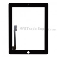 For Apple iPad 3 Digitizer Touch Screen Replacement - Black - Grade R