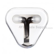 For Apple iPad 2 In-ear Headphone with Remote and Mic - Black - Grade R