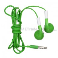 For Apple iPhone 4S, iPhone 4 Headphone with Remote and Mic - Green - Grade R