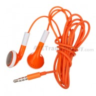 For Apple iPhone 4S, iPhone 4 Headphone with Remote and Mic - Orange - Grade R