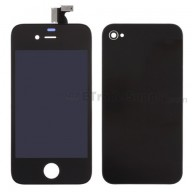 For Apple iPhone 4 LCD and Digitizer Assembly with Battery Door and Home Button Replacement (AT&T) - Black - Grade R
