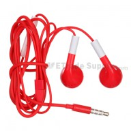 For Apple iPhone 5 Headphone with Remote and Mic - Red - Grade R