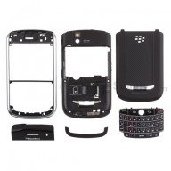 For BlackBerry Tour 9630 Complete Housing Replacement - Silver - Grade R