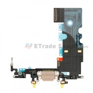 For Apple iPhone 8 Charging Port Flex Cable Ribbon Replacement - Gold - Grade S+