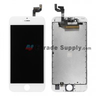 For Apple iPhone 6S LCD Screen and Digitizer Assembly with Frame Replacement - White - Grade A