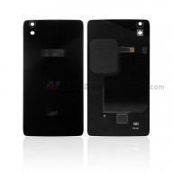 For Alcatel Idol 4 6055 Battery Door Replacement - Black - With Logo - Grade S+